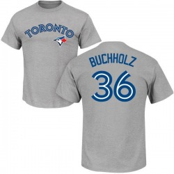 Youth Clay Buchholz Toronto Blue Jays Roster Name & Number T-Shirt - Gray