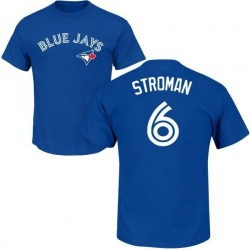Youth Marcus Stroman Toronto Blue Jays Roster Name & Number T-Shirt - Royal